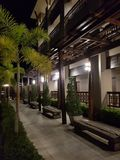 тропическая гостиница в Азии стоковые фотографии rf