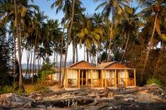 Тропическая гостиница с пальмами Стоковая Фотография RF