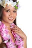 Тропическая женщина Lei стоковое изображение