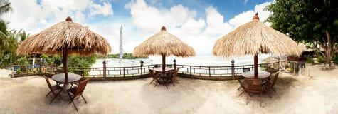 Тропическая панорама пляжа Стоковая Фотография RF