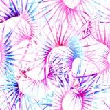Тропическая пастельная безшовная картина Джунгли лета бесплатная иллюстрация