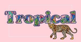 Тропическая печать леопарда бесплатная иллюстрация