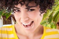 Тропическая потеха улыбки Стоковые Фотографии RF