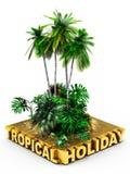 Тропическая принципиальная схема праздника Стоковое Изображение RF