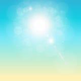 Тропическая солнечная предпосылка Стоковая Фотография