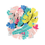 Тропическая флористическая карточка Стоковые Изображения