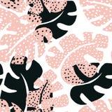 Тропическая флористическая карточка Стоковая Фотография RF