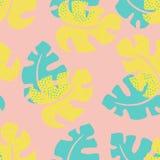 Тропическая флористическая карточка Стоковые Изображения RF