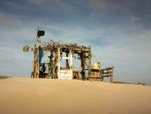 Тропическая хата пляжа Стоковая Фотография