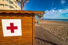 Тропическая хата пляжа Стоковая Фотография RF