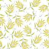 Тропические безшовные листья картины иллюстрация штока