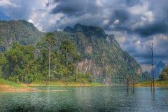 Тропические влияния скал известняка стоковое фото rf