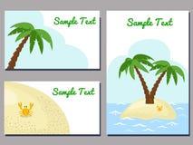 Тропические карточки Стоковые Изображения RF