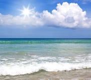 Тропические море и пляж Стоковые Изображения RF