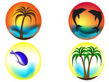 Тропические логотипы Стоковое Изображение RF