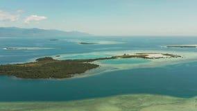 Тропические остров и коралловый риф, Филиппины, Palawan видеоматериал