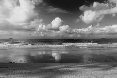 Тропические пляж и море Стоковые Изображения RF