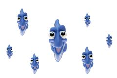 Тропические рыбы игрушки Стоковое фото RF