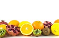 Тропические экзотические плодоовощи на белом backgrounde Стоковые Изображения RF