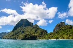 Тропический ландшафт острова, El, Nido, Palawan, Филиппины, Юго-Восточная Азия Стоковое Фото