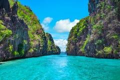Тропический ландшафт, El Nido, Palawan, Филиппины Стоковая Фотография RF