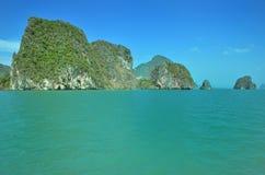 Тропический бамбуковый остров Стоковые Фотографии RF