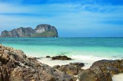 Тропический бамбуковый остров Стоковые Изображения