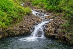 Тропический водопад около Ганы Мауи Стоковые Изображения RF