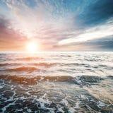 Тропический восход солнца океана Стоковая Фотография RF