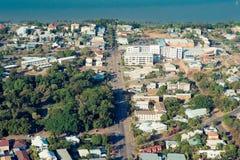 Тропический город Townsville, Квинсленд, северная антенна Австралии соперничает стоковое фото