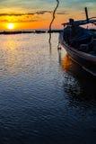 Тропический заход солнца, Таиланд Стоковые Изображения