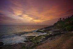 Тропический заход солнца Стоковая Фотография