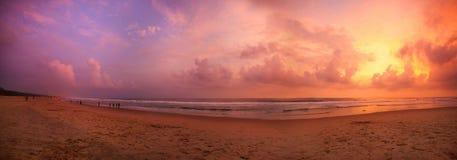 Тропический заход солнца Стоковое фото RF
