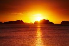 Тропический заход солнца Стоковая Фотография RF