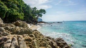 Тропический залив бамбукового острова Стоковые Фото