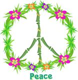 Тропический знак мира Стоковое Изображение