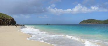 Тропический карибский пляж панорамный Стоковая Фотография