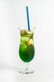 Тропический коктеиль на белой предпосылке Стоковое фото RF