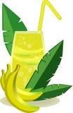 тропический коктеиль с бананами Стоковая Фотография RF