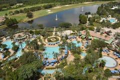 Тропический курорт сверху стоковое фото rf