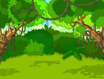 Тропический ландшафт пущи иллюстрация штока
