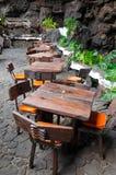 Тропический напольный ресторан Стоковые Фото