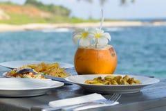 Тропический обедающий стоковые изображения