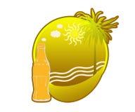 Тропический логотип острова Стоковые Изображения