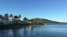 Тропический остров в Whitsundays сток-видео