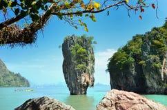 Тропический остров Жамес Бонд Стоковая Фотография