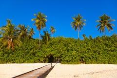 Тропический остров Мальдивов Стоковая Фотография RF