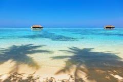 Тропический остров Мальдивов Стоковые Изображения RF