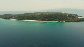 Тропический остров с песчаным пляжем, Boracay, Филиппинами сток-видео
