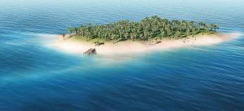 Тропический остров Стоковые Изображения RF